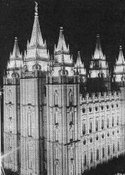 Главный храм мормонов в Солк-Лейк-Сити, штат Юта, США.